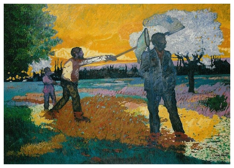Butterfly Hunters - 160x210cm - oil on canvas